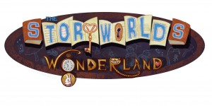 """Title treatment for """"Wonderland,"""" the first book in The Storyworlds series by Adam Lesh"""